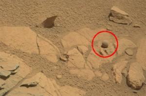 Esfera perfecta en Marte