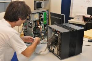 El primer servidor web del mundo se creó en el CERN en este computador llamado NeXT.