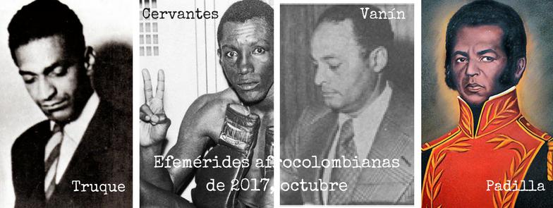 Encabezado Facebook Efemérides afrocolombianos de 2017, octubre