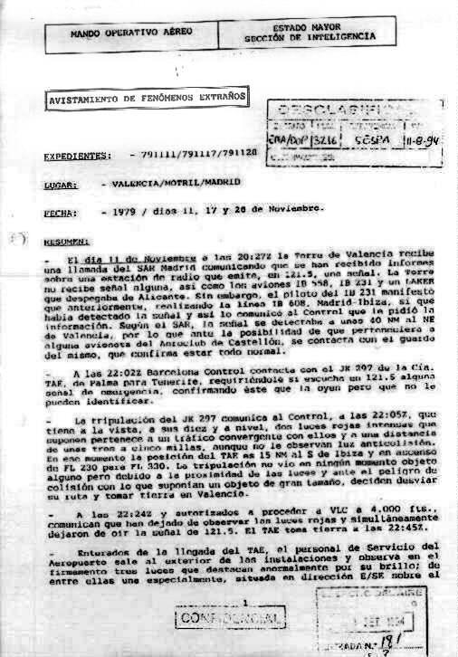CASO MANISES, incidente OVNI, registrado en un vuelo comercial de la ...