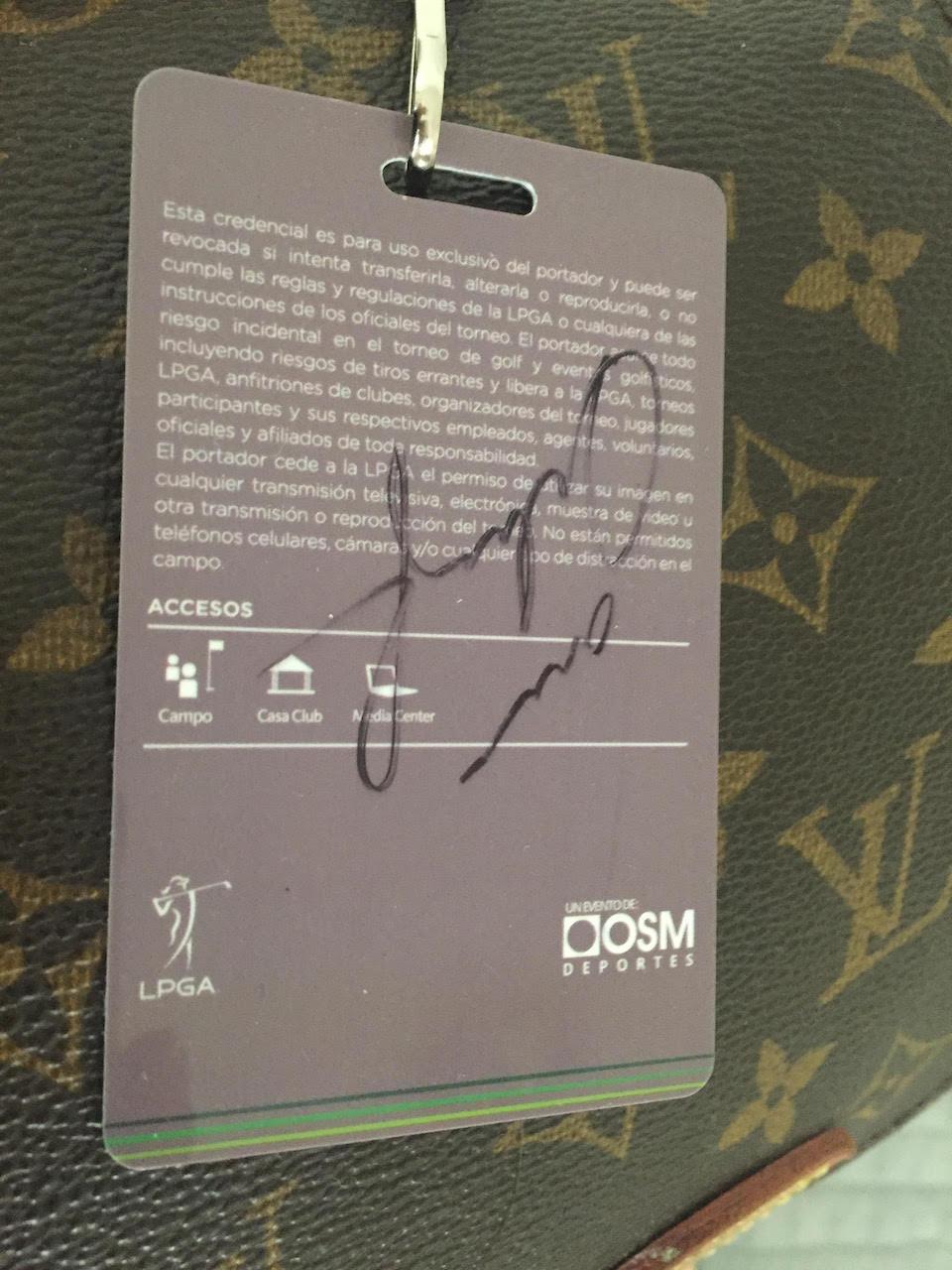 autografo de lorena