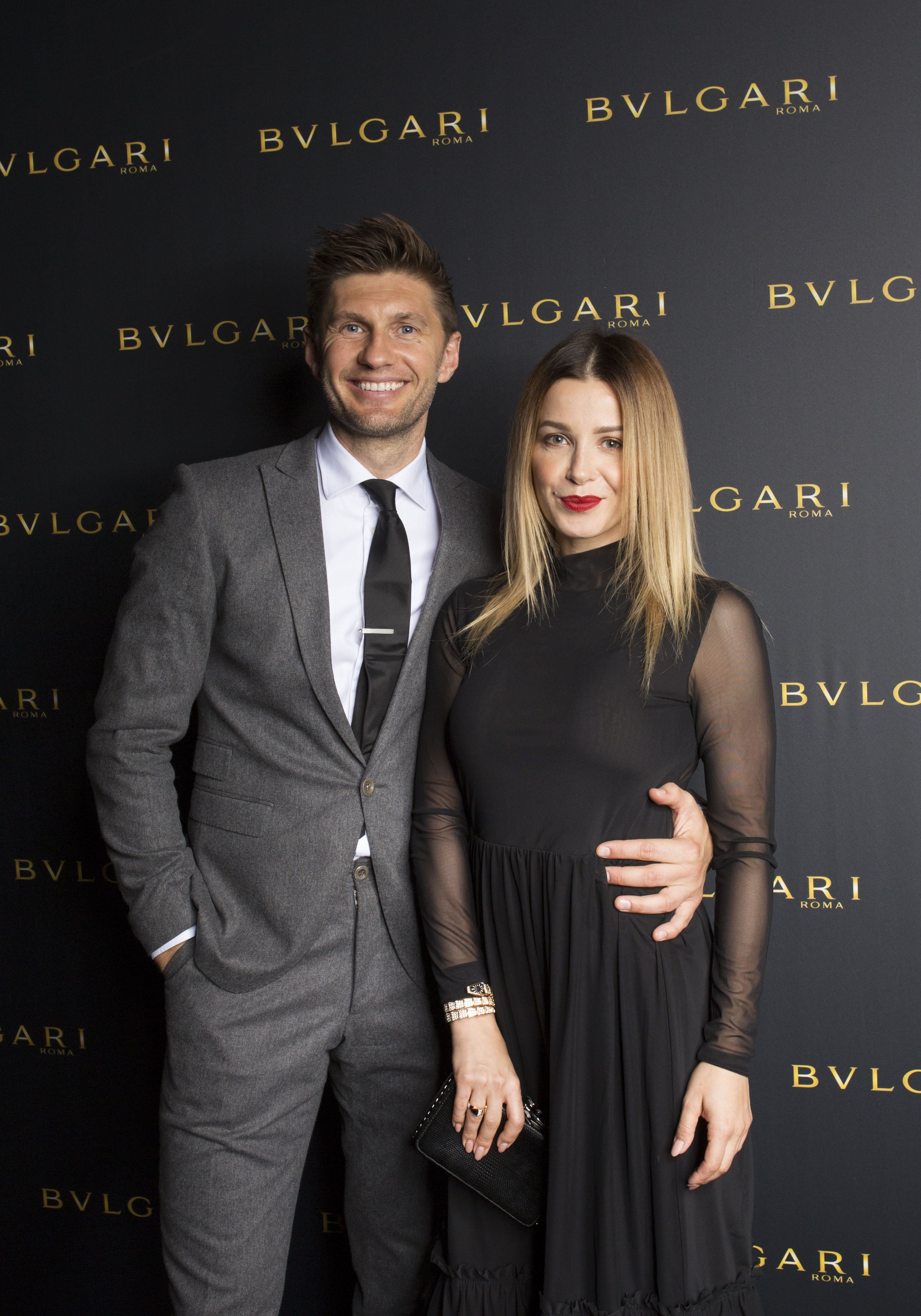 AMSTERDAM, NETHERLANDS - NOVEMBER 2: Evgeniy Levchenko and Victoria Koblenko attend Bulgari facilitating homecoming of long lost van Gogh masterpieces at the Van Gogh Museum on November 2, 2017 in Amsterdam Netherlands. (Photo by Serge Ligtenberg/Getty Images for Bulgari) *** Local Caption *** Evgeniy Levchenko; Victoria Koblenko