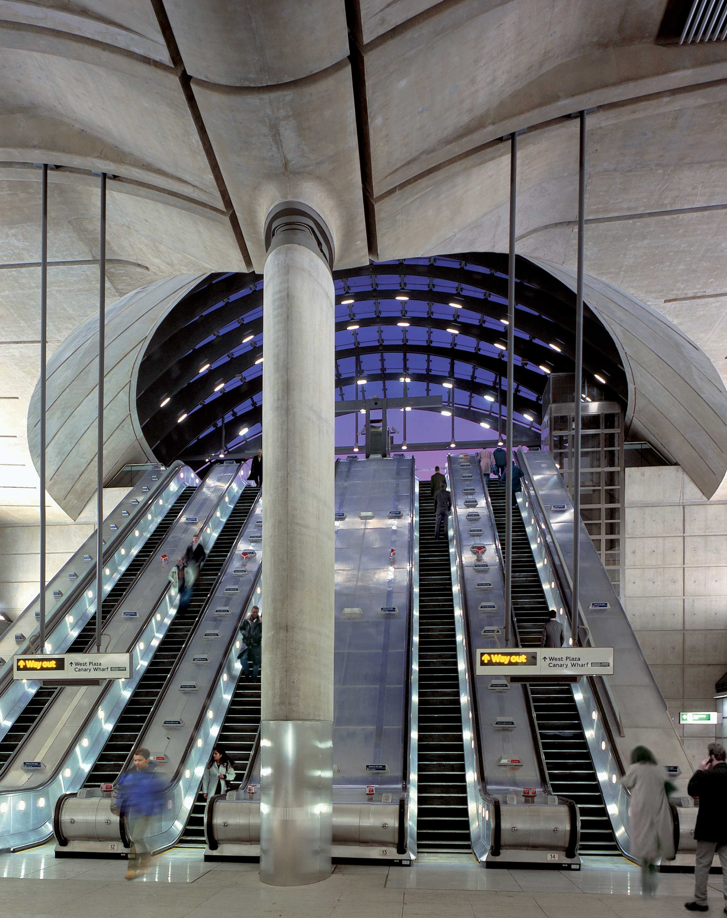 La estación que no vamos a tener: Canary Wharf en Londres (foto de Foster and Partners)