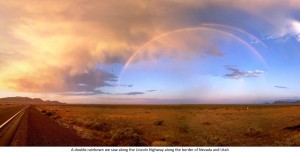 Rainbows on US 93 near Nevada-Utah border