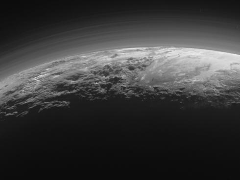 La atmósfera de Plutón.