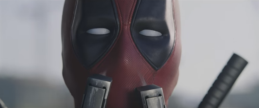 Captura de tráiler. Ryan Reynolds interpreta a Deadpool.
