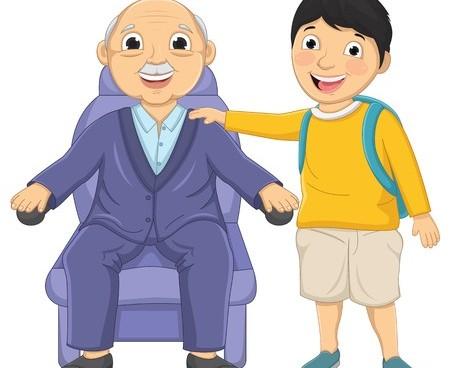 anciano y niño
