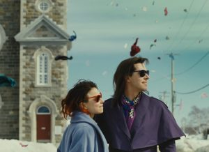 Together - Suzanne ClŽment (on left) stars asÊFrŽdŽriqueÊandÊMelvil Poupaud (on right) stars as Laurence in Xavier Dolan'sÊLaurence Anyways.