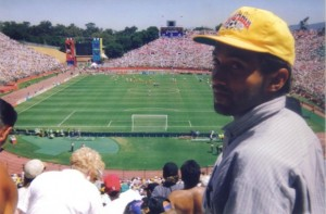 Foto personal, en el partido Colombia vs USA, en el Rose Bowl