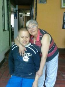 Wilson Tibaquirá, paciente con retraso sicomotor severo - foto enviada por la familia