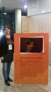 Radka Denemarková en la Feria del Libro de Bogotá - foto personal