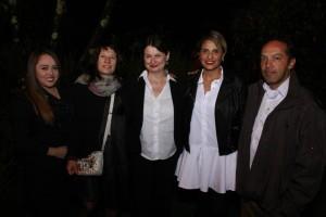 Con Radka Denemarková en el centro de la foto - foto tomada por alejoeslava