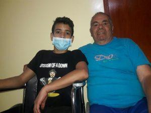 Don Volmar y su nieto, víctimas de campo minado - foto personal y autorizada para publicar