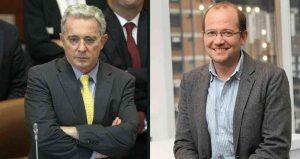 Expresidente ÁLvaro Uribe y Daniel Samper Ospina - foto tomada de Revista Semana