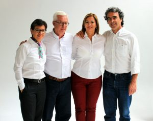 Esperanza Vargas Quimbaya, aspirante a la Cámara de Representantes por el departamento del Meta, por Coalición Colombia, #103 en el tarjetón. Acá con Claudia López, Jorge Robledo y Sergio Fajardo - foto personal