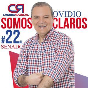Ovidio Claros, candidato al Senado por Cambio Radical, con el #22 en el tarjetón - foto tomada de su cuenta de Twitter