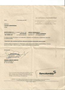 Certificación de la cuenta donde pueden realizar donaciones y de algunos de los ultimos certificados e historial clinico