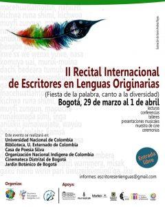 II Recital Internacional de Escritores en Lenguas Originarias
