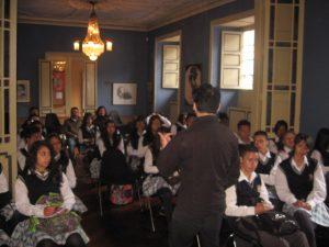 EEl actual auditorio general de la casa, llamado Eduardo Carranza, corresponde al espacio que antaño ocuparan la sala y el salón de piano de la residencia Silva Gómez