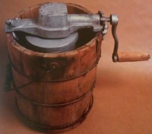 Garrafa tradicional para fabricar helados