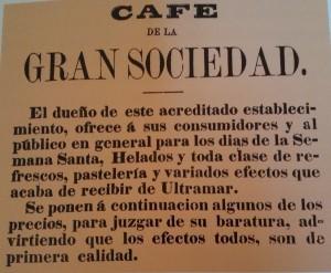 La venta de helado en cafeterías