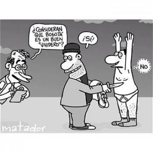 Caricatura de Matador publicada en El Tiempo.