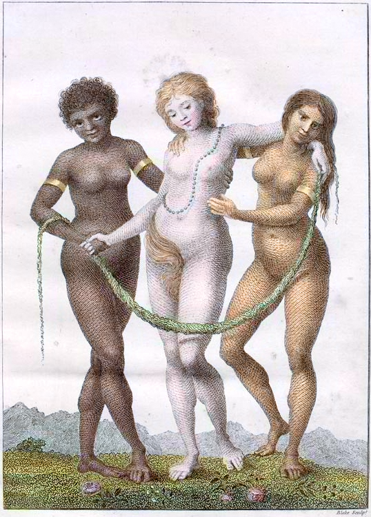 William Blake-Europe Supported By Africa and America 1796
