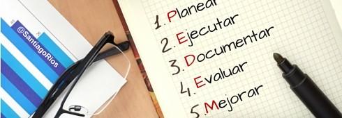 Planear Ejecutar Documentar Evaluar Mejorar