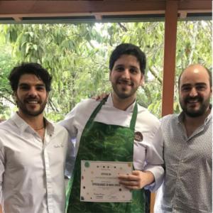 Nacho Losada y chefs