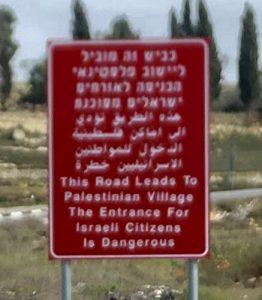 Avisos de peligro para judios en Palestina