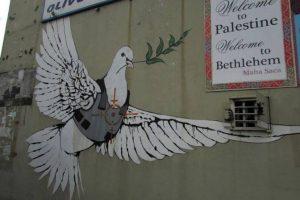 Mural del artista Banksy en Belen