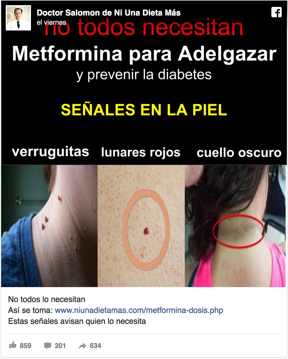 Lunares rojos avisan que necesitas Metformina para adelgazar | Blogs ...