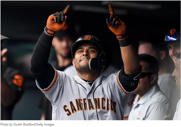 Donovan Solano Gigantes San Francisco. Foto: Dustin Bradford - Getty Images