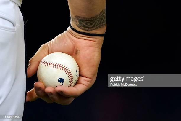 WASHINGTON, DC - APRIL 17: Matt Adams #15 of the Washington Nationals holds a baseball in the sixth inning against the San Francisco Giants at Nationals Park on April 17, 2019 in Washington, DC. (Photo by Patrick McDermott/Getty Images)