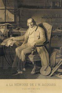 Imagen de Dominio público. Joseph Marie Jacquard, inventor del telar de tarjetas perforadas.