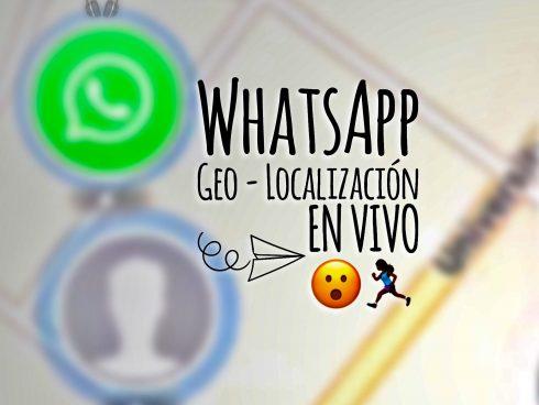 Saldrás en el mapa de WhatsApp