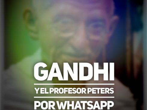 Gandhi y el profesor