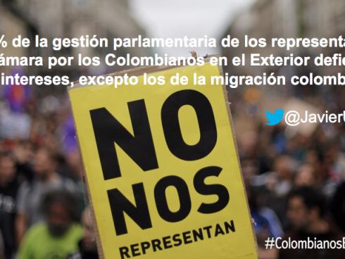 No Nos Representan. Los partidos no representan a la migración colombiana