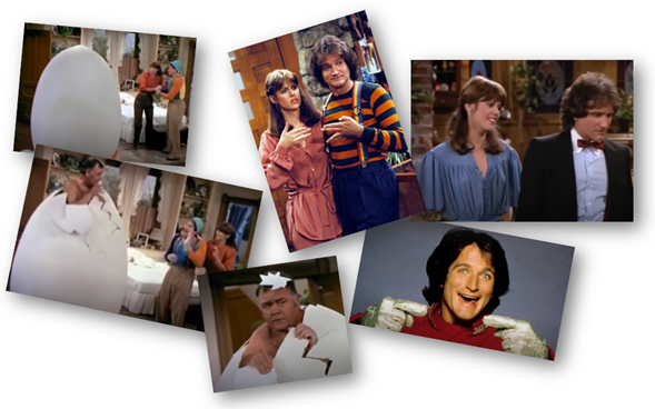 Mork & Mindy. Collage cedido IMAG