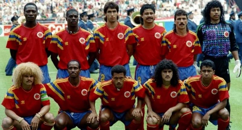 7d61b56464357 Las camisetas de fútbol más bonitas de la historia - Camiseta de Colombia  del Mundial 1990