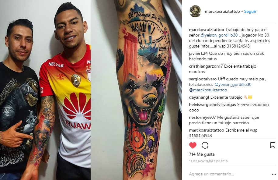 Tatuaje Yeison Gordillo