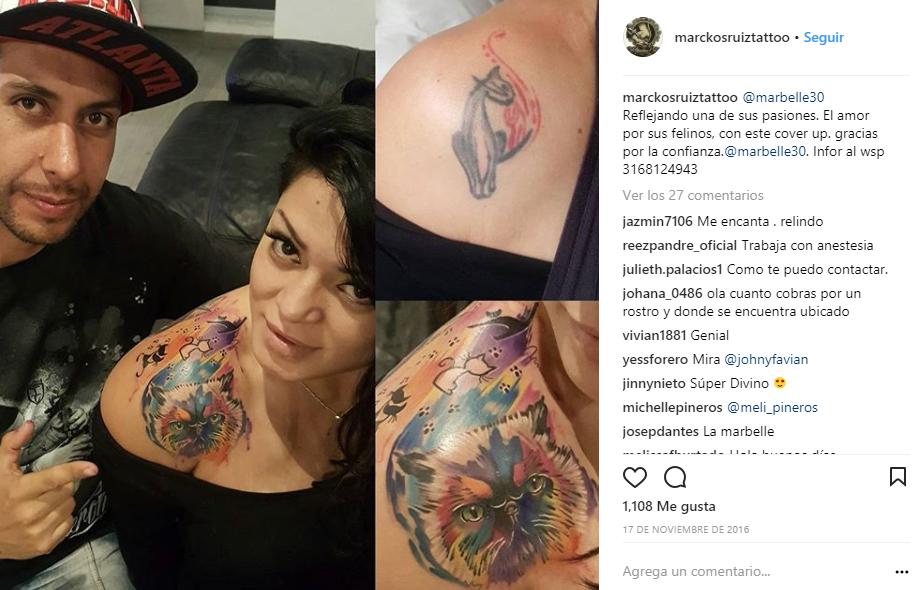 Tatuaje de Marbelle