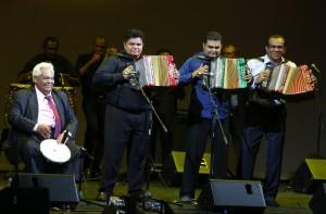 Los homenajeados del Festival Vallenato. Foto: Héctor Fabio Zamora / EL TIEMPO