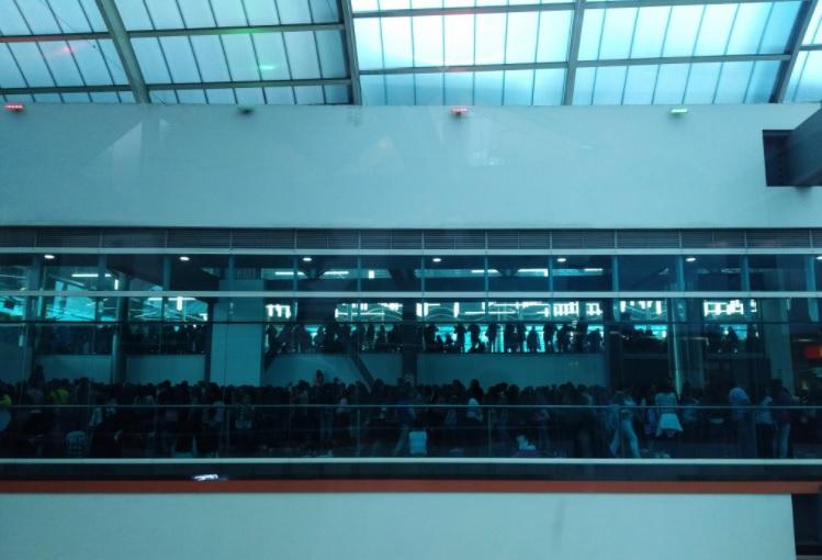 Así se veía parte del tercer piso de Calima.