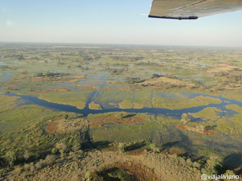 Safari en aeroplano Delta del Okavango Botsuana