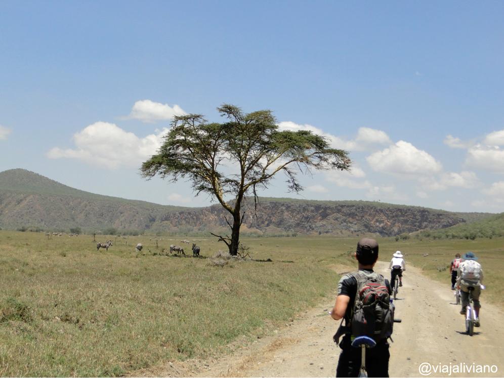Safari en bicicleta en Kenia