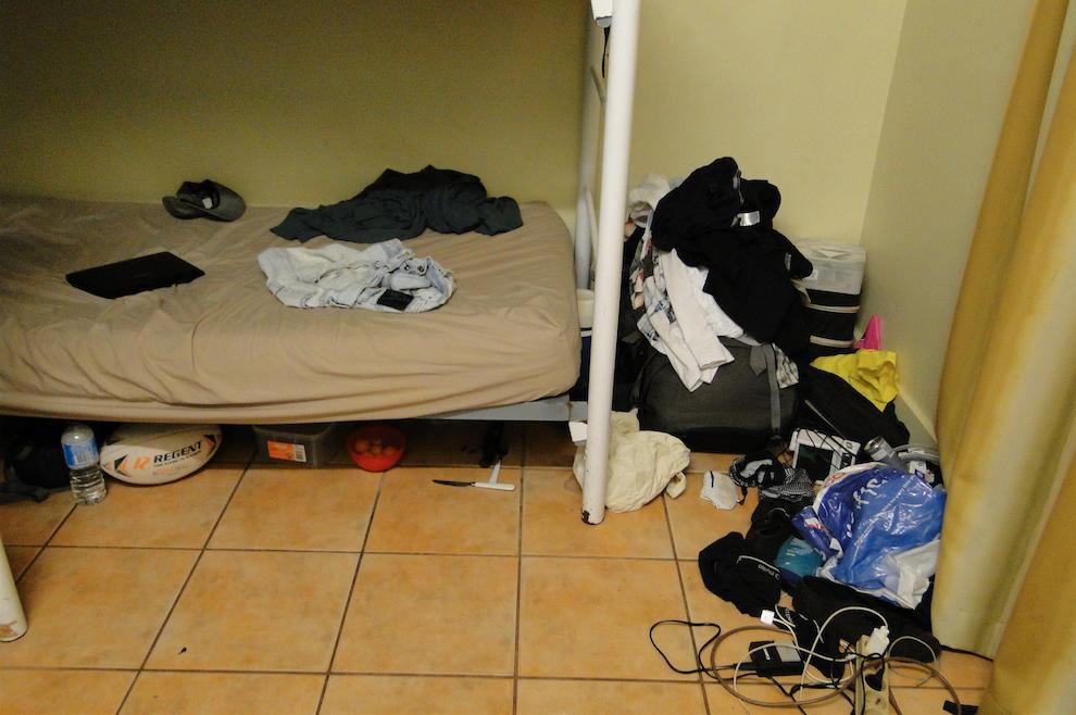 El acogedor cuarto que compartimos con 2 personas más en Darwin - Australia