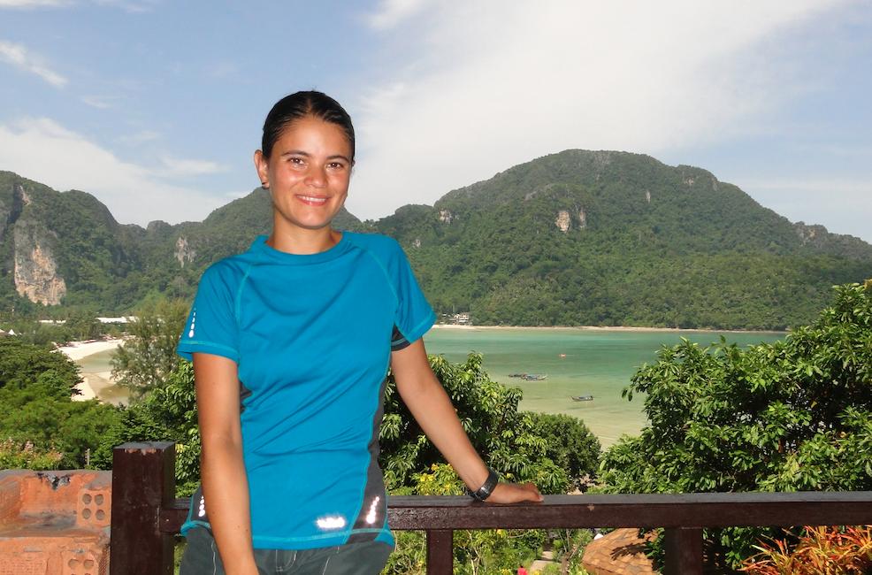 La vista desde el balcón de nuestro hotel en Ko Phi Phi Tailandia