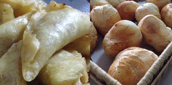 Empanadas y pandeyucas del Valle.