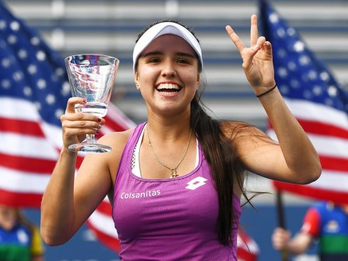 September 8, 2019 - 2019 US Open Junior Girls' Singles Champion Maria Camila Osorio Serrano. (Photo by Garrett Ellwood/USTA).